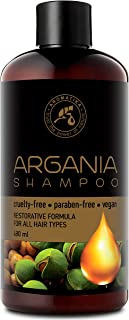 Aceite de argán 480ml - Champú con aceite de argán natural y extractos de hierbas - para todo tipo de cabello - Fórmula reparadora especial para hombres - Cuidado del cabello - Champú de aceite de argán