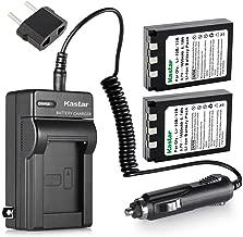 Kastar Battery (2-Pack) and Charger Kit for Olympus LI-10B LI-12B and Olympus Stylus 300,400,500,600,800,C-50,60,70,470,760,770,5000 Camera
