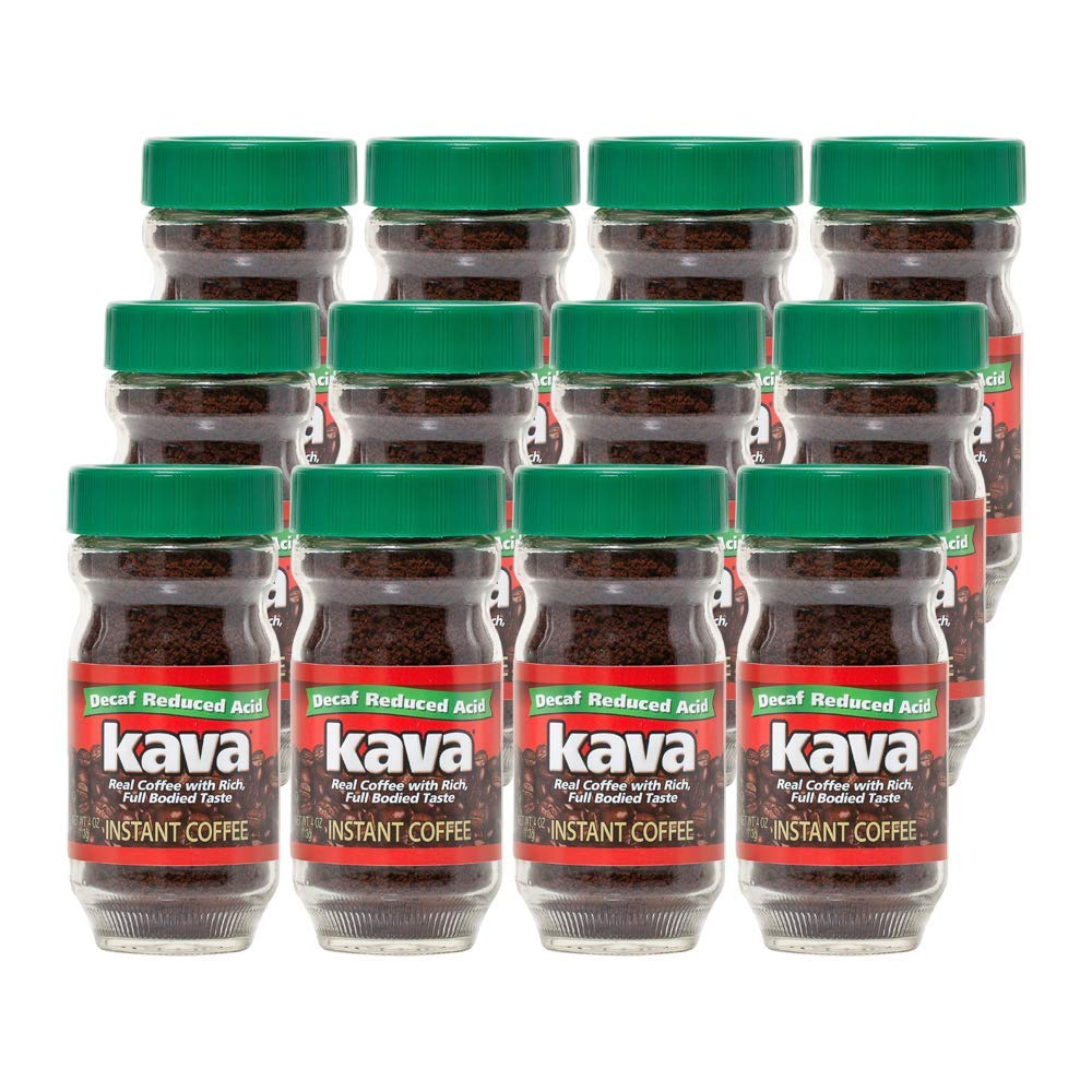 Kava Decaf Acid Reduced Instant Coffee Pack Industry No. 1 Ounce of 12 4 Max 88% OFF Jar