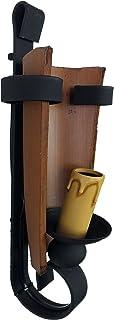 comprar comparacion Aplique rústico de pared con forja y teja envejecido.