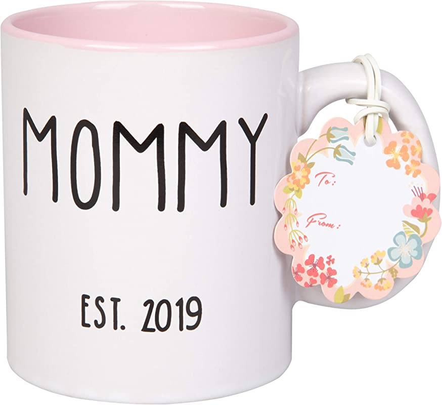 Mommy Est 2019 Coffee Mug Pink 15 Oz