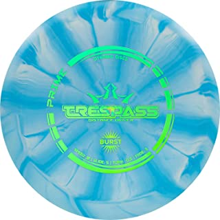 Dynamic Discs Prime Burst Trespass Disc Golf Driver | Frisbee Golf Disc | Maximum Distance Driver | Neutral Flight Pattern | Stamp Colors Will Vary