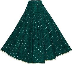 Dubai Creation Jacqaurd Silk Full Length Maxi Designer Skirts for Women's