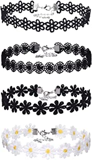 Lace Choker Necklaces Vintage Gothic Tattoo Choker for Women Girls, 4 Pieces