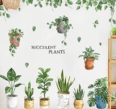 Pegatinas de pared verdes hojas en maceta cultivo fresco sala dormitorio dormitorio dormitorio dormitorio planta pegatinas...