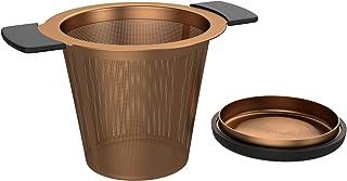 BonVIVO Puri infusor de té de acero inoxidable para té de hojas sueltas, práctico colador de té para teteras o tazas, de alta calidad y funcional, filtro de té de malla