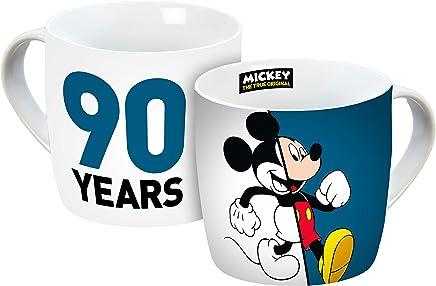 Preisvergleich für Disney Mickey Mouse 12050 Disney Mickey 90 Jahre Figur Tasse, Porzellantasse, Kaffeetasse Porzellan Mehrfarbig