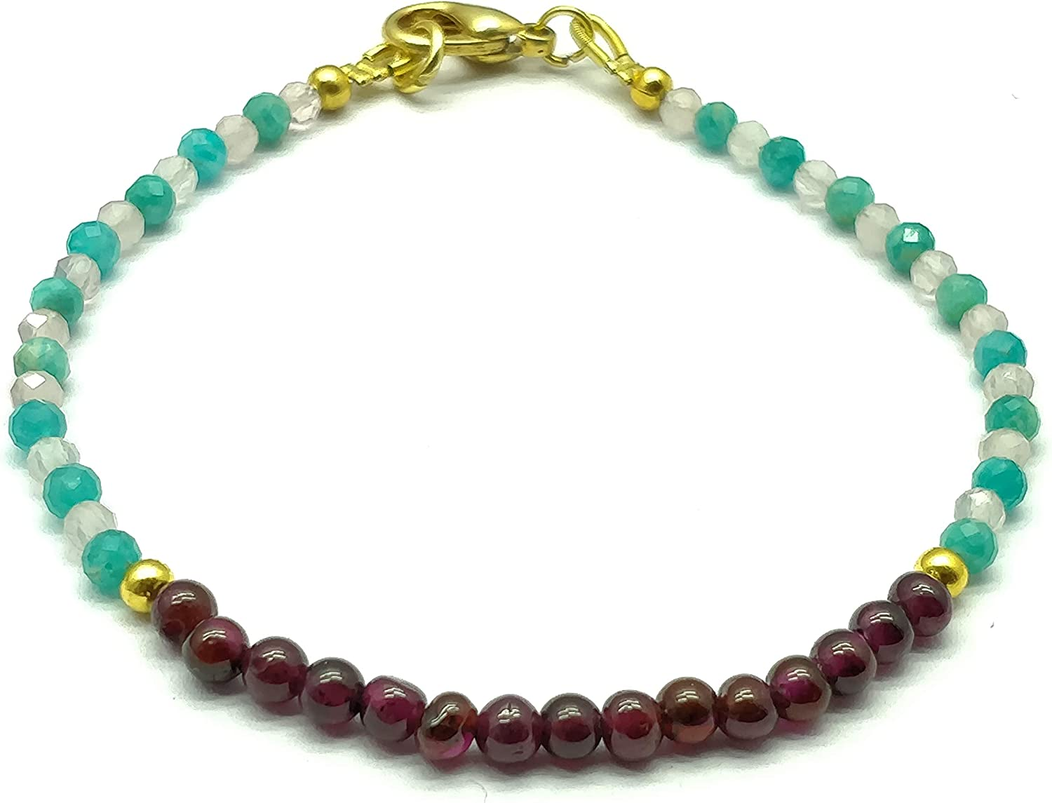 Gemstone Bracelet Max 41% OFF - Rondell Stacking Finally resale start Jewelry