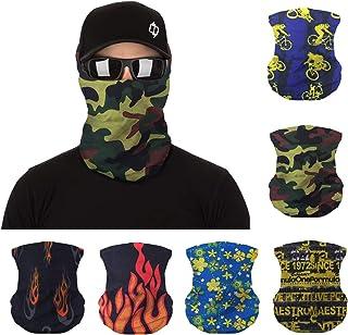 UV Protection Face Mask Neck Gaiter 6pcs Outdoor Sunscreen Balaclava Bandana Headwear Sports Scarf