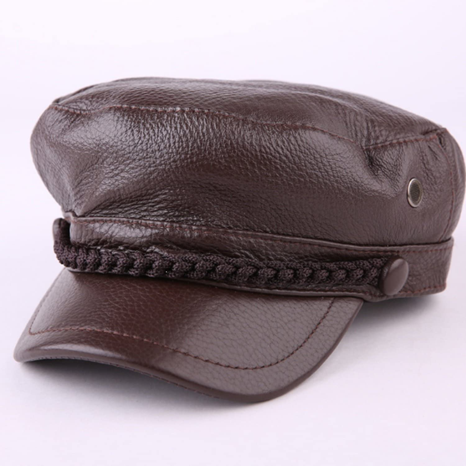 Las Vegas Mall Hat leather cowhide Super Special SALE held cap male flat student winter fall Waterp