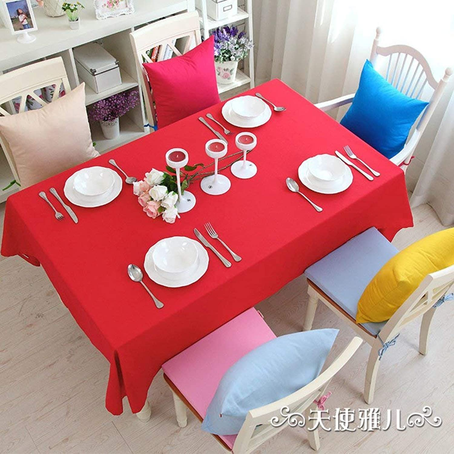 Garden Table on The Ground of The Fabric Mode Low Table in Soft Cotton Candy colord Simple pad-I 90x90cm (35x35cm)