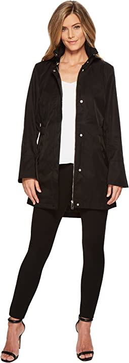 Ivanka Trump Scallop Pocket Details Raincoat