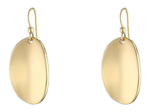 Roberto Coin High Polished Oval Drop Earrings