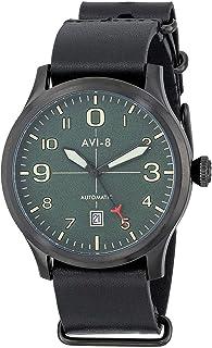 AVI-8 AV-4021-05 Mens Flyboy Automatic Black Leather Strap Watch