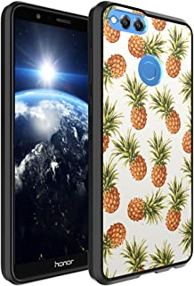 Huawei Honor 7X Case, Capsule-Case Hybrid Slim Hard Back Shield Case with Fused TPU Edge Bumper (Black) for Huawei Honor 7X - (Pineapple)