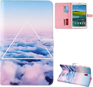 DAMINFE Smart Shell Stand Case for Samsung Galaxy Tab S 8.4,Fold Flip Stand Cover Case PU Leather Folio Protective Case Cover Inner Hard Shell Cover for Samsung Galaxy Tab S 8.4 Tablet SM-T700 SM-T705 (the cloud)