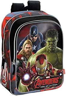 Avengers Mochila Adaptable, 29 x 40 cm, Color Gris