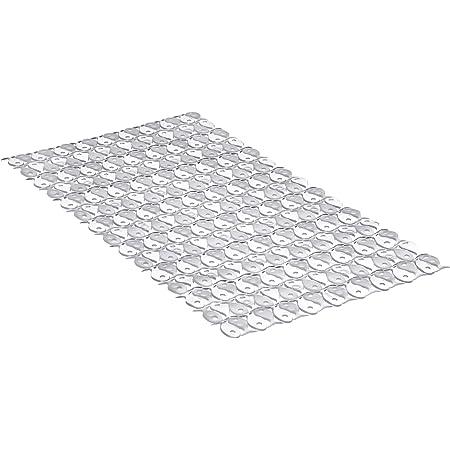 Tatay Alfombra de Bañera Antideslizante de PVC con Ventosas, Resistentes a Moho y Microbios, Anti-Bacteriano, Diseño Piscis, Blanco. Medidas 70 x 36 cm