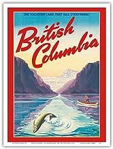 "British Columbia - The Vacation-Land That Has Everything! - Vintage World Travel Poster c.1947 - Master Art Print 9"" x 12"" PRTA8157"