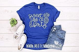 Sweet Land Of Liberty T-Shirt, Women's 4th of July Shirt, July 4th, Patriotic, Merica, America, Womens Pineapple Shirt, Mom 4th of July Tee