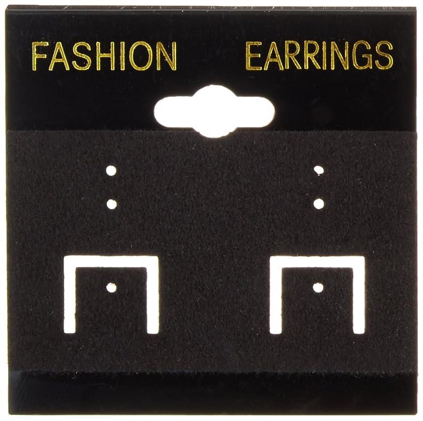 Darice Earring Cards, 2 by 2-Inch, PVC/Black Velvet, 100/Pack