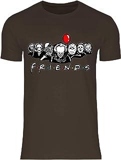 wowshirt Camiseta Horror de Halloween del Payaso Jason Viernes 13 para Hombre