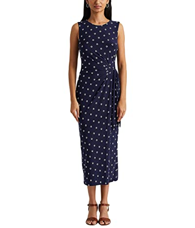 LAUREN Ralph Lauren Print Jersey Midi Dress Women