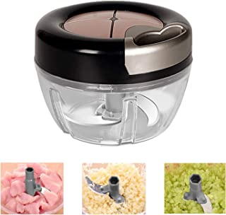 Tobeape Vegetable Chopper,500ML Hand Pull Food Chopper for Kitchen, Easy Cleaning Blender Mixer for Vegetables and Fruits(...