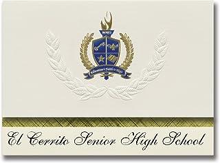 Signature Announcements El Cerrito Senior High School (El Cerrito, CA) Graduation Announcements, Presidential style, Elite...