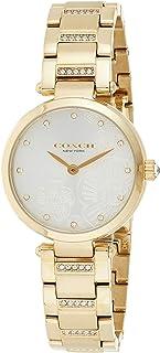 Coach Womens Quartz Wrist Watch, Gold Stainless Steel - 14503625