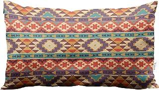 Yeuss Throw Pillowcase Peru Culture Aztec Pattern Colorful Geometric Ethnic Pattern Design Native American Art Home Chair ...