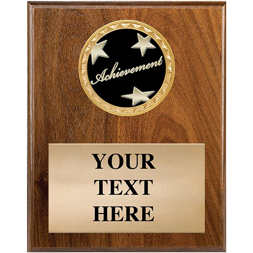 Crown Awards Corporate Plaques - 4.5 x 6.5 Achievement Wood Plaque Award with Personalized Engraving Prime
