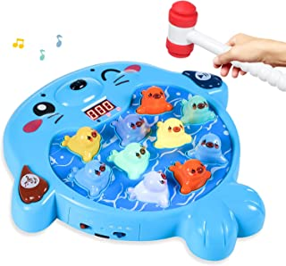 SZJJX Interactive Whack A Mole Game, Seal Hammering Pounding Toy, Toddler Games, Kids Early Developmental Learning Toys fo...