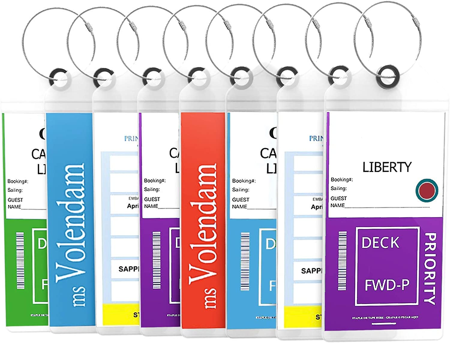 Highwind Dealing full price reduction excellence Cruise Luggage Tags Etag Loops Zip Seal Steel Holders