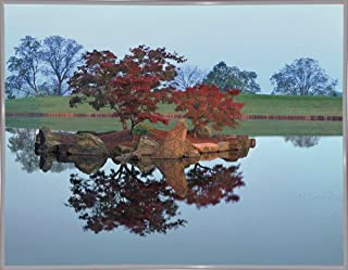 "Frame USA Reflections #2, Hocking Hills, Ohio '92-MONNAG103378 8""x10.25"" by Monte Nagler in a White Metal Print, 8x10.25"