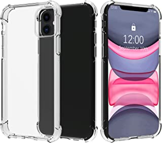 Migeec Compatible with iPhone 11 Clear Case Shockproof Anti-Scratch Phone Cases 6.1 inch