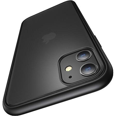 Humixx 耐衝撃 iPhone 11 ケース 米軍MIL規格取得 レンズ保護 マット加工 半透明 6.1インチ 黄ばみなし ワイヤレス充電対応 アイフォン 11 カバー [Shockproof Series] (マット・ブラック)