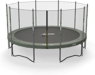 Acon Air 4.6 Trampoline 15ft with Enclosure | Includes 15ft Round Trampoline and Safety Net | 110 Heavy Duty 8.5in Springs