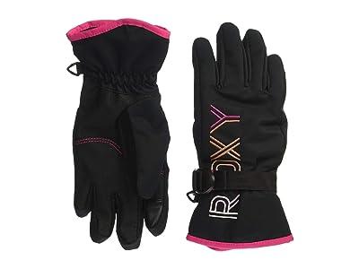 Roxy Kids Freshfield Girl Gloves (Little Kids/Big Kids) (True Black) Extreme Cold Weather Gloves