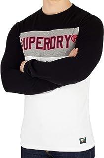 Superdry Men's Applique Colour Block Longsleeved T-Shirt, Multicoloured