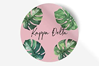 "Kappa Delta Sticker Greek Sorority Decal for Car, Laptop, Windows, Officially Licensed Product, Monogram Design 5"" x 5"" - ..."
