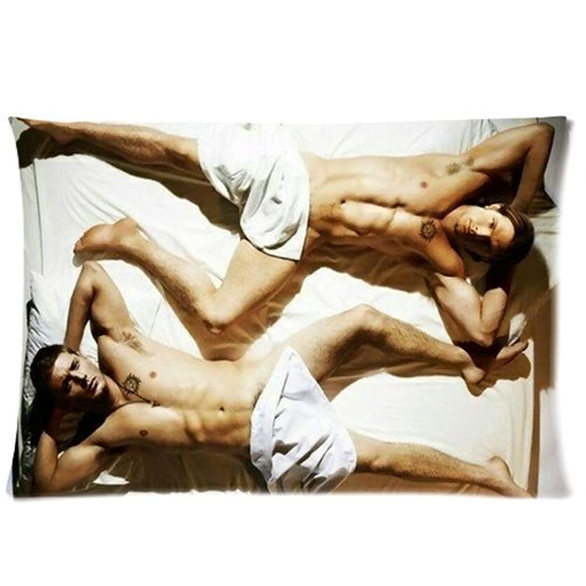 Stroggl Generic Supernatural Jensen Ackles and Jared Padalecki Shirtless Pillowcase