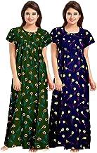 YUKATA Womens Cotton Printed Nighty, Free Size(2PCS Combo GB)