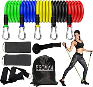 Resistance Bands with Handles Set, Exercise Bands Workout Fitness Set - Door Anchor, Handles, Ankle Straps and Carry Bag f...