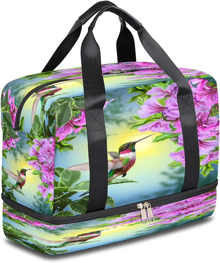 BOLOLI Animal Hummingbird Bird Travel Tote Sports Duffel Gym Bag Large-scale sale Large special price !!