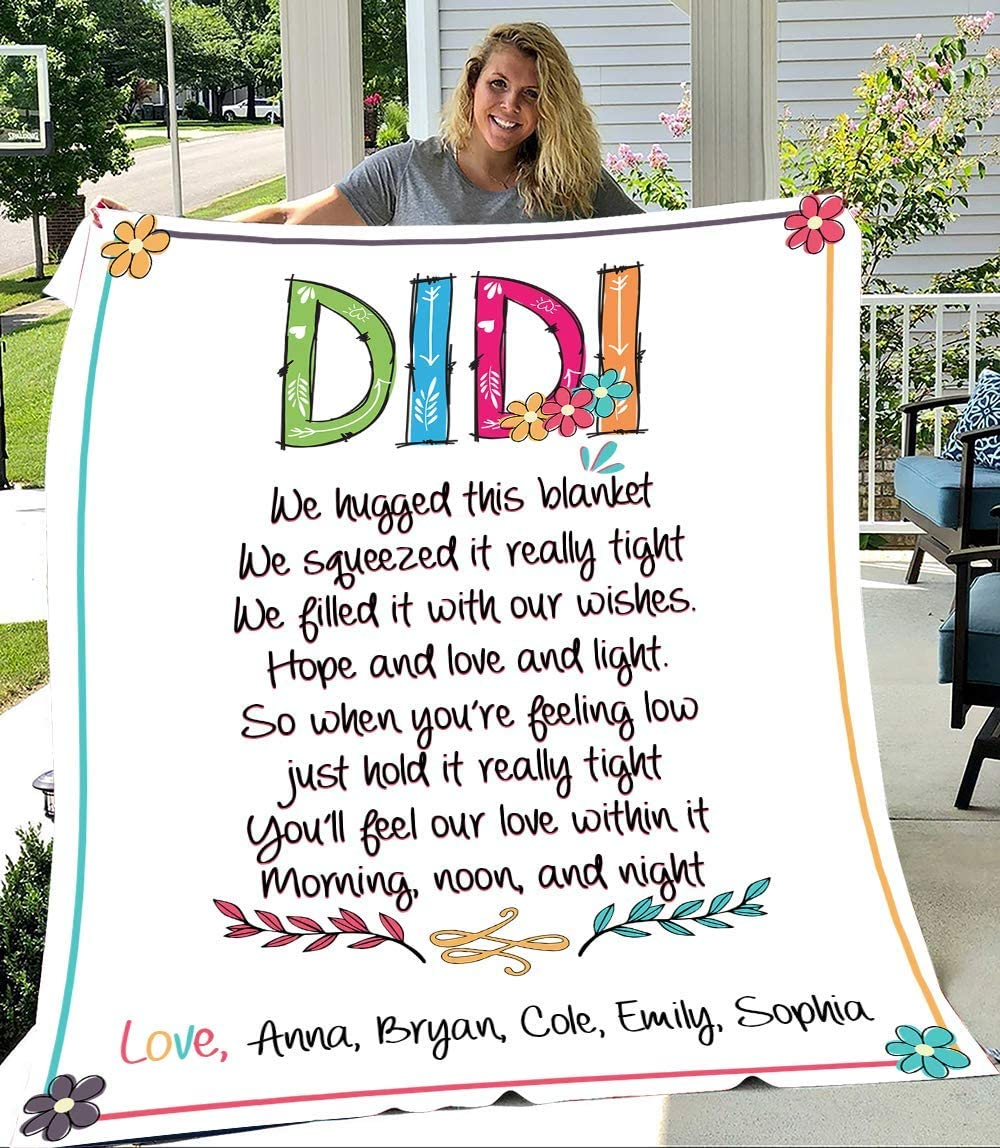 Didi Latest item We Hugged This Blanket Personalized Today's only with Grandma Kid's Nam