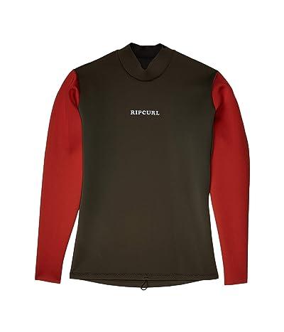 Rip Curl Dawn Patrol Reversible 1.5 m Long Sleeve Jacket (Khaki) Men