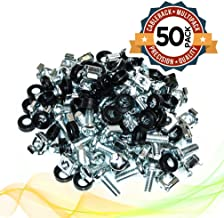 Cage Nuts and Rack Screw Kit M6 x 16mm Zinc Plated (50-Pack)