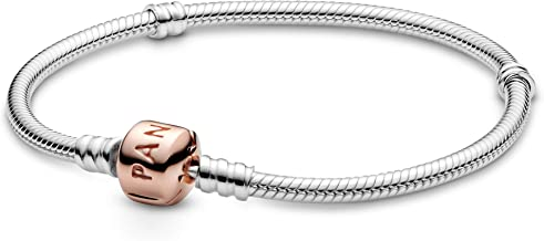Pandora Jewelry Moments Snake Chain Charm Pandora Rose Bracelet, 7.9