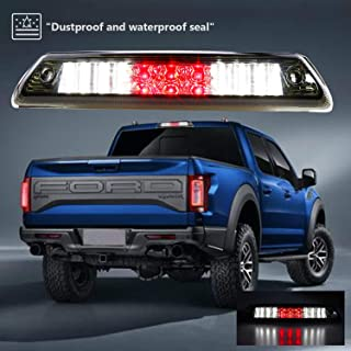 Sanzitop For 2009-2014 Ford F-150 LED 3rd Third Brake Light Center High Mount Stop Lamp AL3Z-13A613-E AL3Z13A613G FO20890104 (Chrome Housing Smoke Lens)